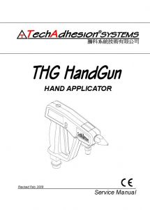 THG Hot Melt Handgun Manual